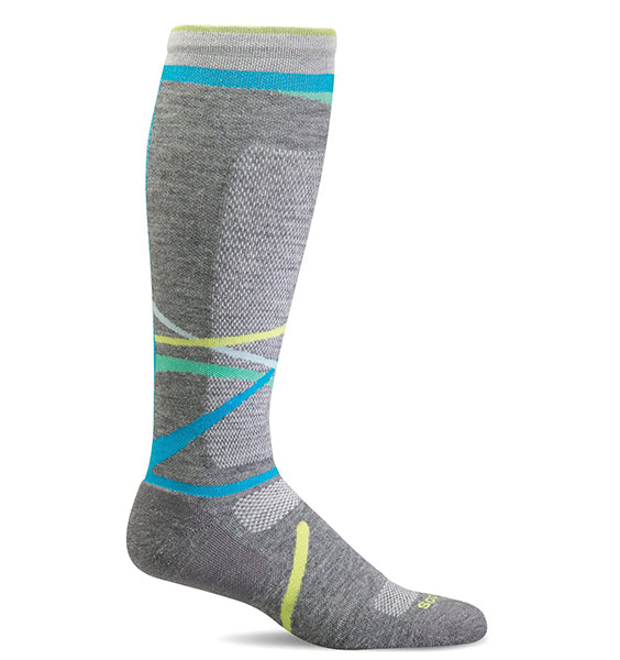 (SOCKWELL) Women's Moderate Compression, Free Ski Medium 15-20 MMHG (Grey)