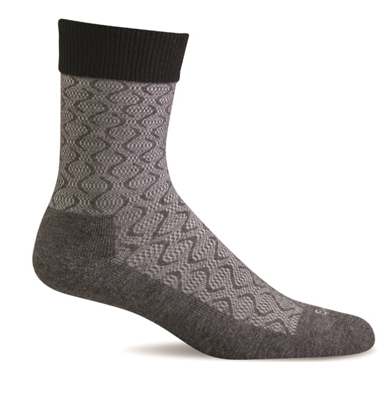 (SOCKWELL) Women's Moderate Compression, Softie (Charcoal) (4524636438618)