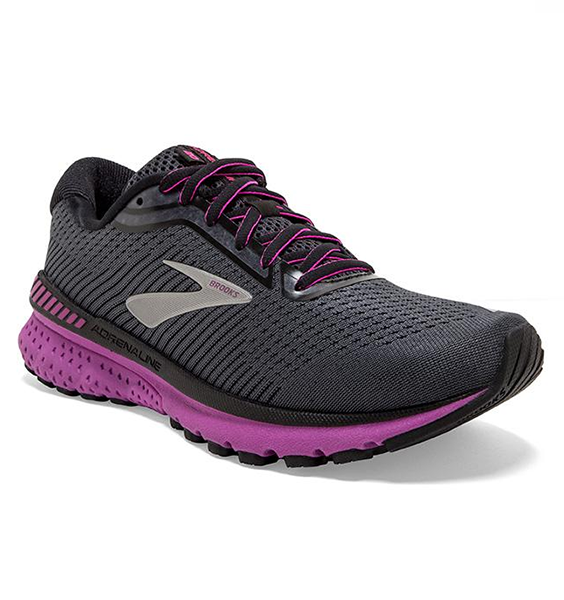 """BROOKS"" Women's Adrenaline GTS 20 Ebony/Black/Hollyhock (4541166092378)"