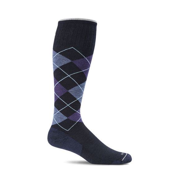 (SOCKWELL) Women's Moderate Compression, ARGYLE 15-20 MMHG