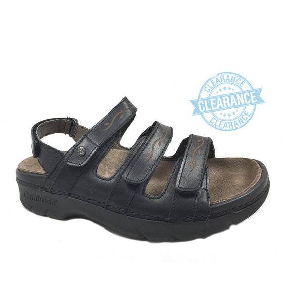 """CAMBRIAN"" Women's Delphi Sandal (Black)"