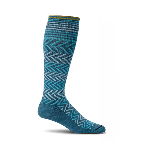 (SOCKWELL) Women's Moderate Compression, CHEVRON 15-20 MMHG (4305652804)