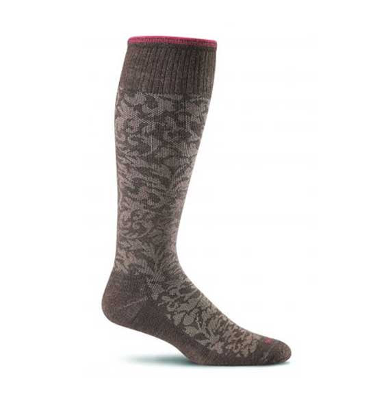 (SOCKWELL) Women's Moderate Compression, DAMASK 15-20 MMHG (Espresso)
