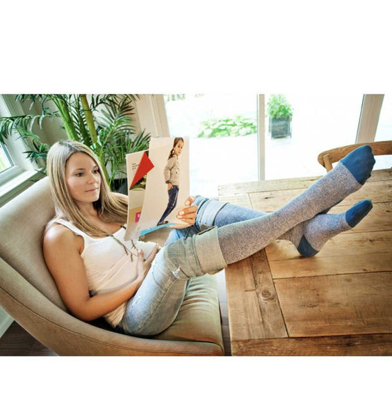 (ACHI+) Medical Compression Sock, DENIM COOL 20-30 MMHG