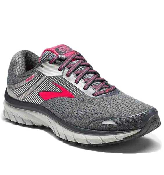 Brooks Women's Adrenaline GTS 18 Ebony/Silver/Pink