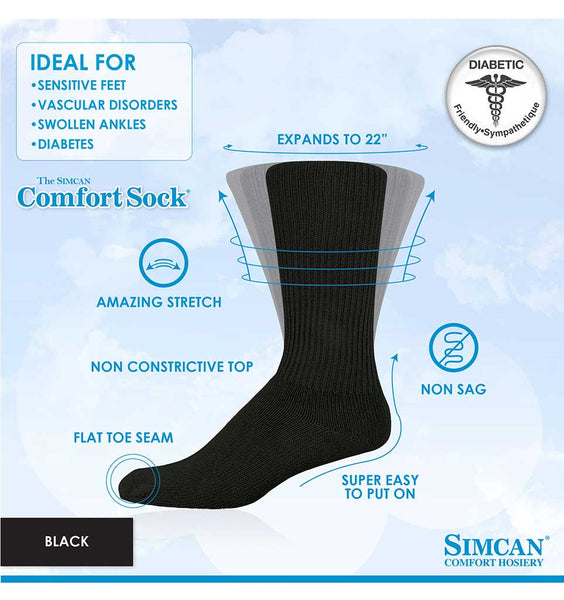 SIMCAN Comfort Sock - High Rise (various colours)