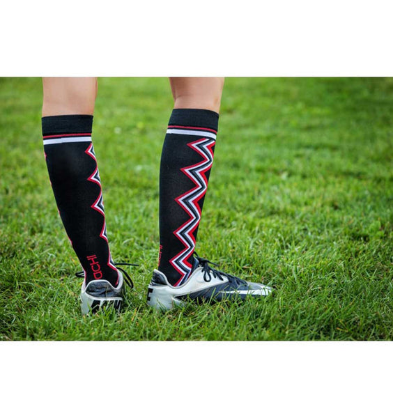 (ACHI) Performance Compression Sock, LIGHTNING CHEVRON 15-22 MMHG