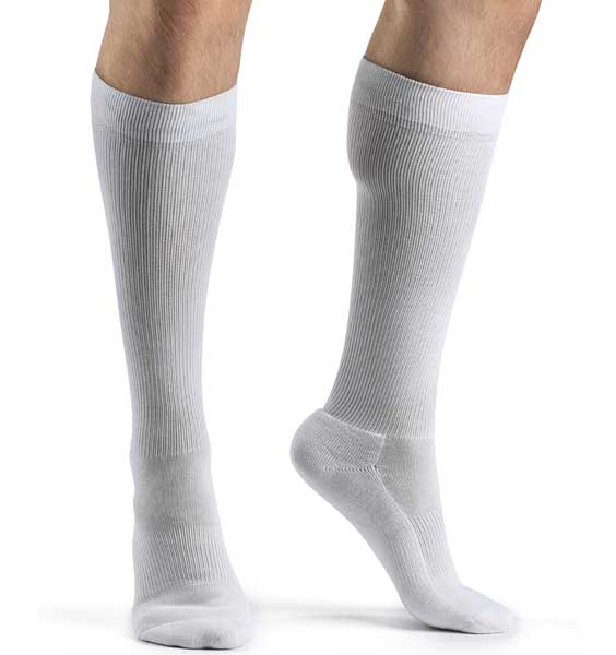 SIGVARIS Men's CUSHIONED COTTON 182 Calf 15-20mmHg