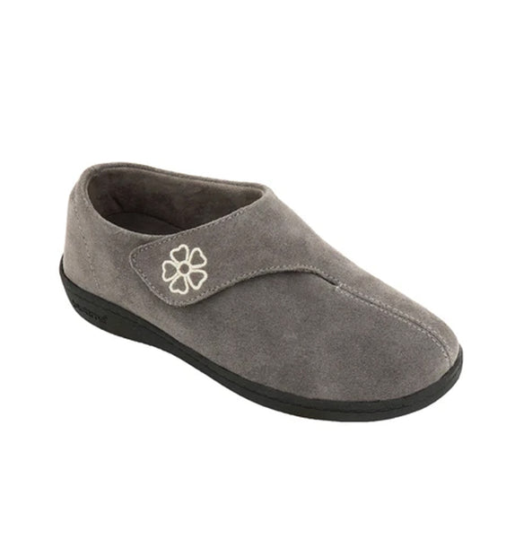 """BIOTIME"" Women's Mia Slipper (Grey Suede) (5897251061917)"