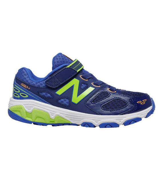 """NEW BALANCE"" Youth Boys 680v3 Hook & Loop Sneaker"