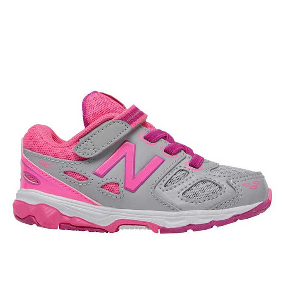 """NEW BALANCE"" Youth Girls 680v3 Hook & Loop Sneaker (6321432324)"