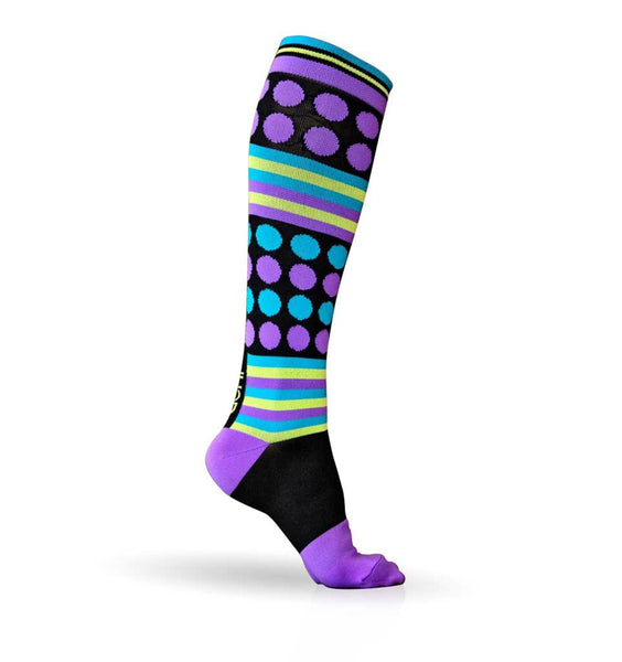 (ACHI) Performance Compression Sock, ROCKIN DOT 15-22 MMHG