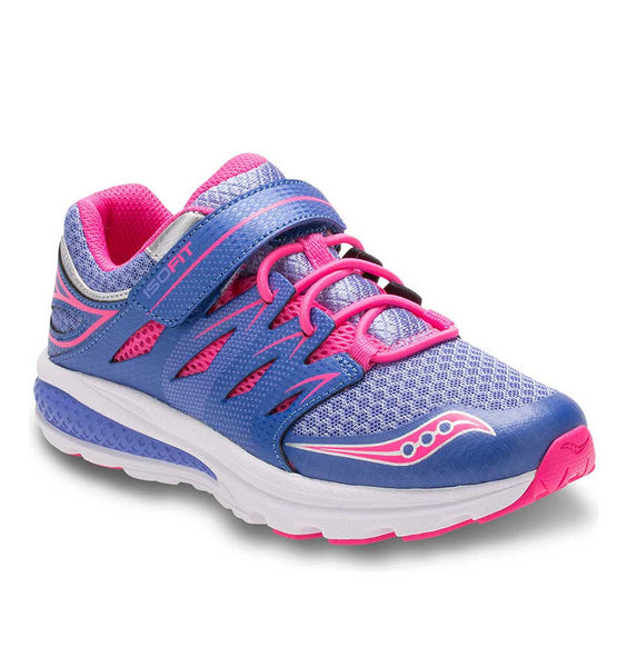 """SAUCONY"" Youth Girls Zealot Hook & Loop Closure"