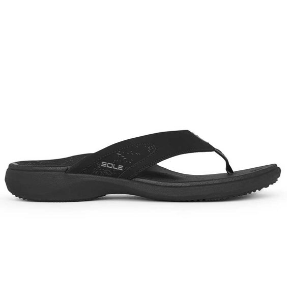"""SOLE"" Men's Sport Flips - Raven (Black)"