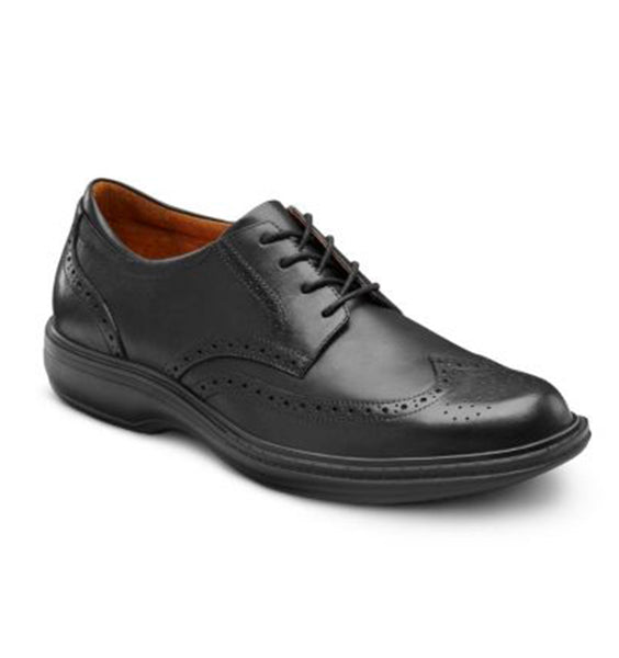 """DR. COMFORT"" Wing Men's Shoes - Black"