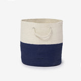 Cotton Woven Storage Bin Navy Blue