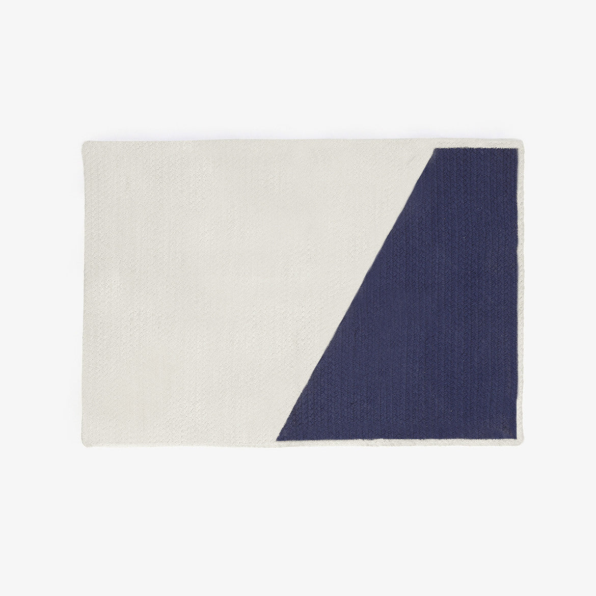 Braided Cotton Throw Rug Navy