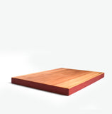 Edge-y Wooden Cutting Board Cherry Red