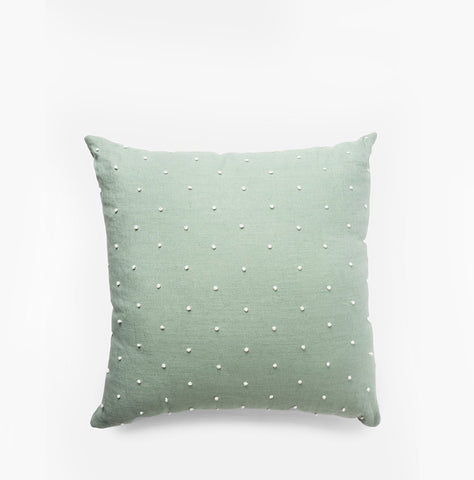 Dot Knot Throw Pillow Mint