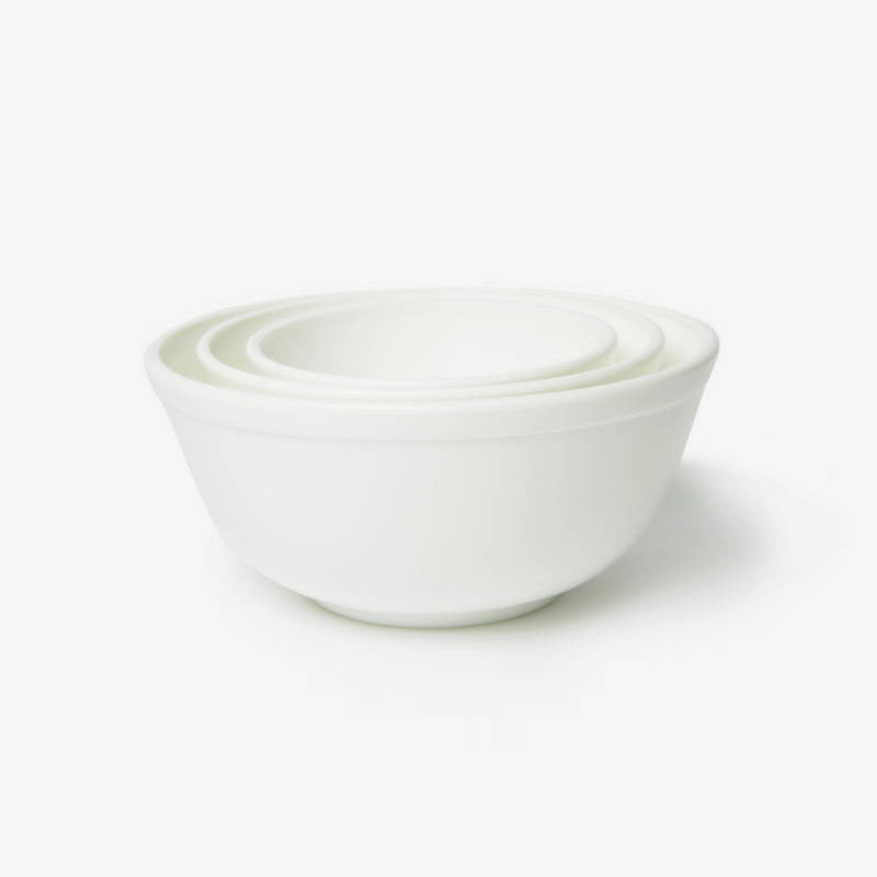 Bungalo Mosser Glass Mixing Bowls White