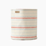 Dashed Canvas Storage Hamper Cherry Red