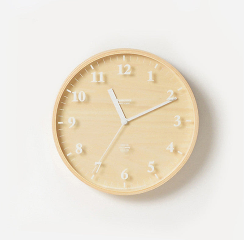 Bungalo Lemnos Cool Clock Plywood Clock