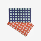 Griddy Woven Cotton Reversible Throw Rugs