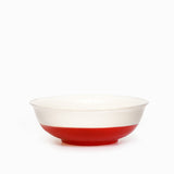 Dipped Ceramic Individual Cereal Bowls Cherry Red