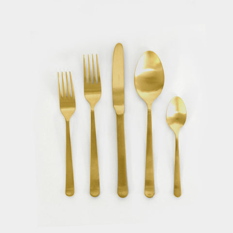 Gold Oslo Cutlery Set (5 pc)