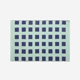 Reversible Cotton Throw Rug Woven Dhurrie Rug Navy