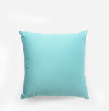 Linen Check Throw Pillow Cerulean Blue