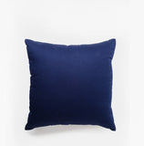 Linen Check Throw Pillow Navy Blue