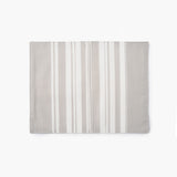 Bungalo Simple Stripe Fancy Napkin Light Grey