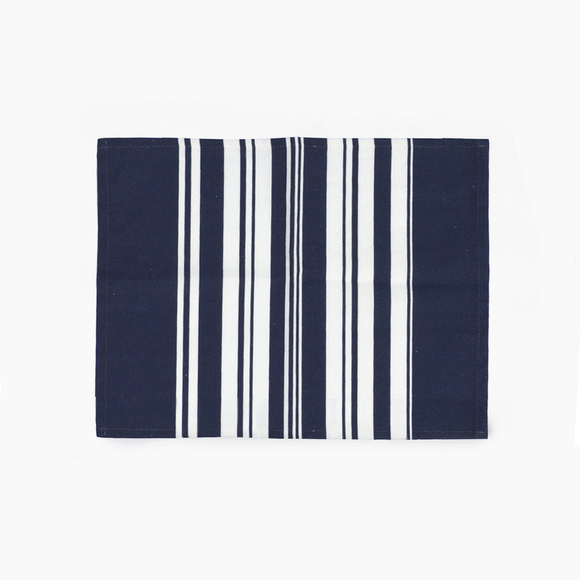 Bungalo Simple Stripe Placemat Napkin Navy Blue