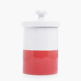 Modern Cookie Jar Cherry Red