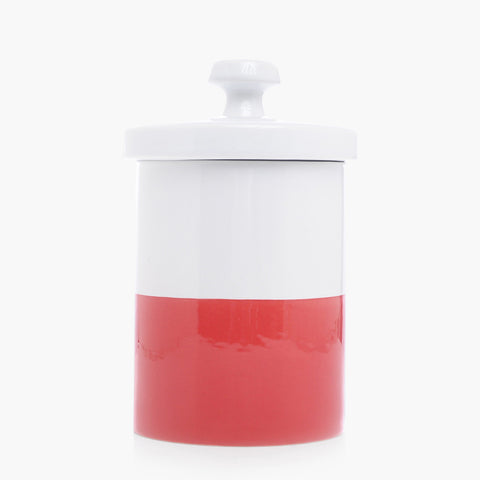 Dipped Color Ceramic Cookie Jar Cherry