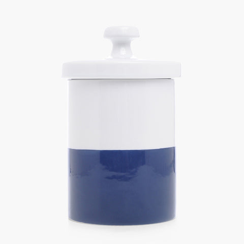 Dipped Color Ceramic Cookie Jar Navy