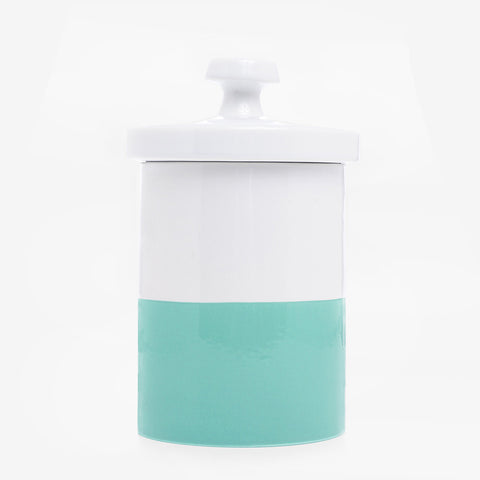 Dipped Color Ceramic Cookie Jar Mint