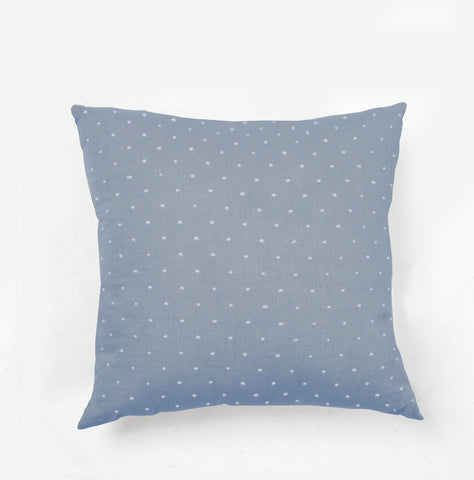 Woven Dot Pillow Chambray