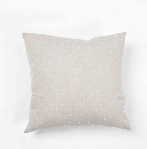 Woven Dot Pillow Light Grey