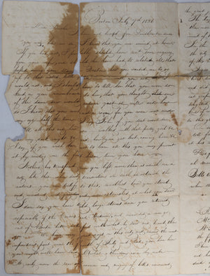 1826 letter from Boston, 4th of July...death of President Adams