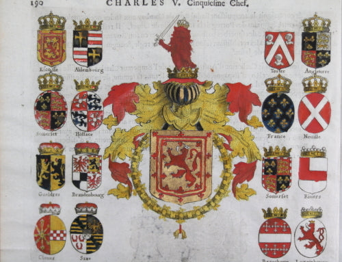 1667 Print Of The Coat Of Arms Of King James V Of Scotland