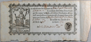 1697 Rome basilica of St. Lawrence Outside the Walls, receipt mass