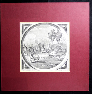 @1726 two engravings of Jacob Cats Dutch proverbs (van de Venne)
