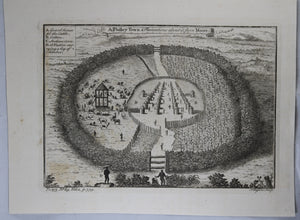 1745 engraving Pholey Town & Plantations, Africa