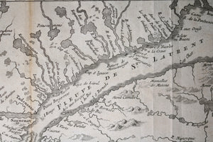 1757 map of Canada's St Lawrence River, Anticosti to Quebec City