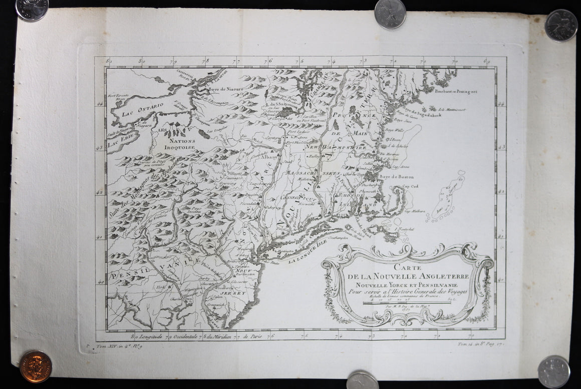 1757 Bellin map of Florida and Louisiana
