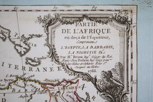 1766 map by Louis Brion de la Tour of Africa, north of the Equator