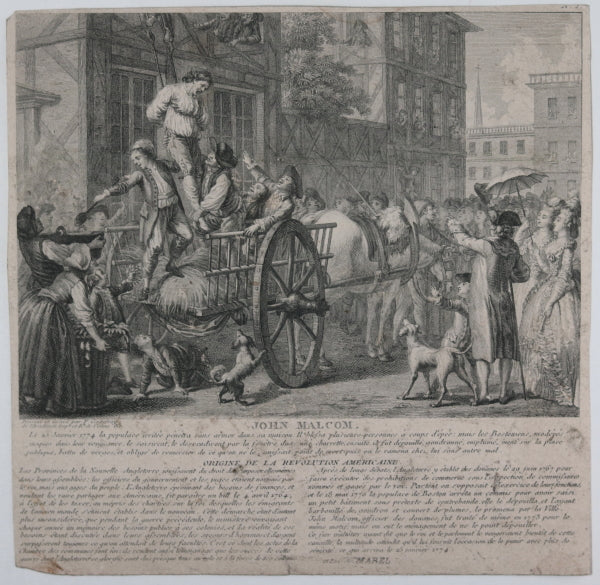 1784 engraving from Ponce & Godefroy's book on American Revolution