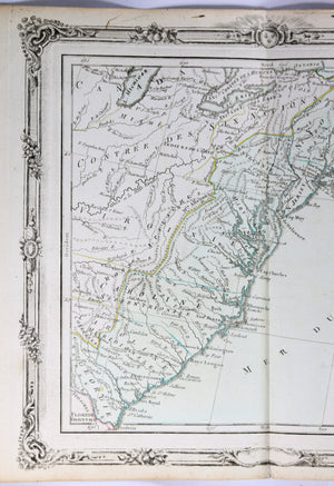 1785 Brion map of East Coast of United States